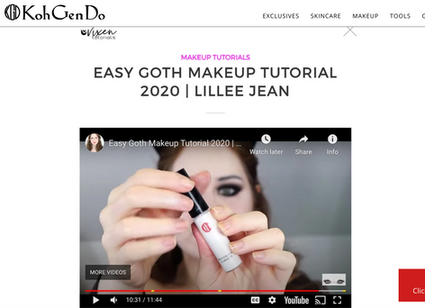 Lillee Jean KOH GEN DO Cosmetics Instagram Repost