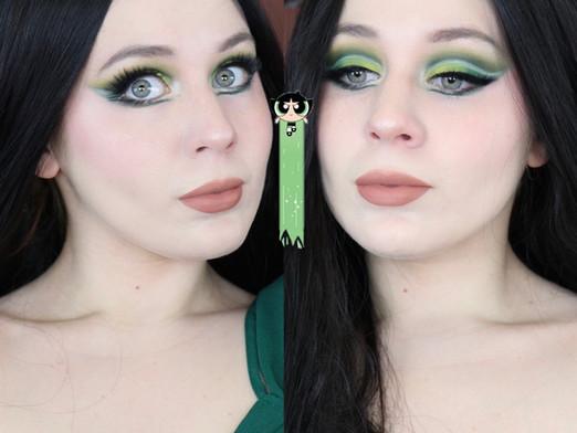 PowerPuff Buttercup Green Cut Crease Makeup Tutorial 2020 | Lillee Jean