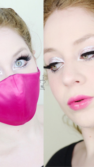 Sephora Pro Editorial 2.0 Holiday Glitter White Eyeliner MASK Makeup Tutorial 2020 | Lillee Jean