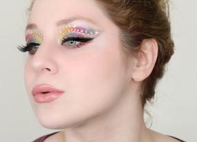 NYX Ultimate Edit RAINBOW Gemstone Cut Crease Glittery Makeup Tutorial GRWM 2020 | Lillee Jean