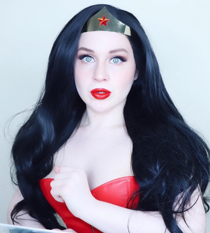 Wonder Woman HALLOWEEN Makeup Tutorial   LADY BOLD Red Lipstick Glam 2021   Lillee Jean