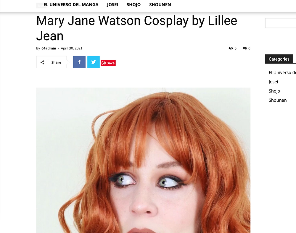 Lillee Jean Mary Jane Watson Blog Feature