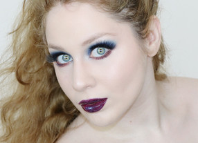 Essence Crystal Iced Dramatic BLUE and Peach GLITTERY Makeup Tutorial 2020   Lillee Jean