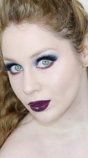 Essence Crystal Iced Dramatic BLUE and Peach GLITTERY Makeup Tutorial 2020 | Lillee Jean