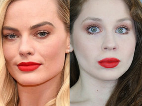 Margot Robbie OSCARS 2020 Red Lips Hollywood Contour Makeup Tutorial | Lillee Jean