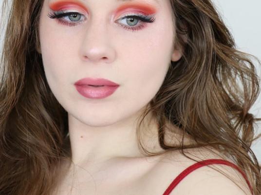Morphe 35O3 Pink Orange and Blue Liner Spring Makeup Tutorial 2020 | Lillee Jean