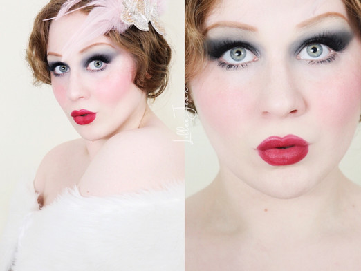 1920's Flapper Makeup Tutorial | Vintage Red Lipstick | Lillee Jean