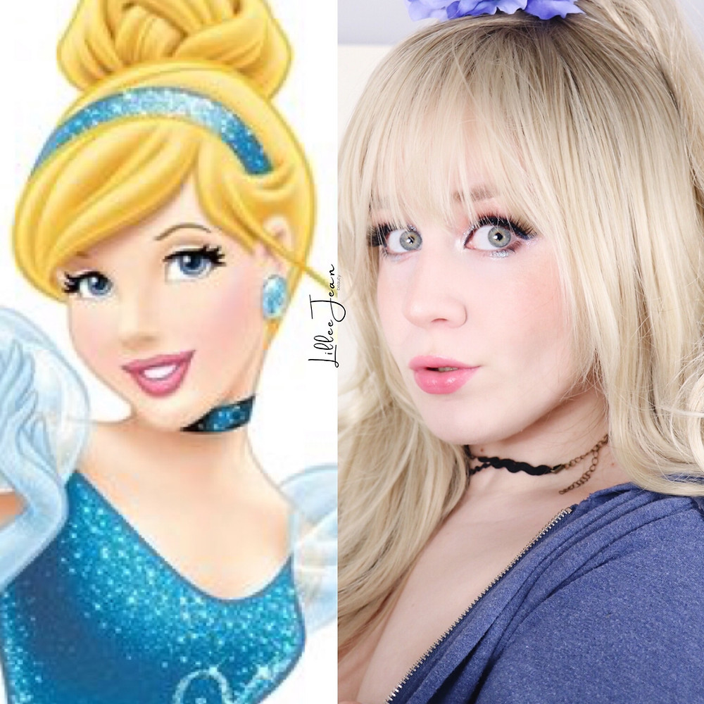 Disney Princess Cinderella Spring Glittery TOO FACED KILLER LINER Makeup Tutorial 2021 | Lillee Jean