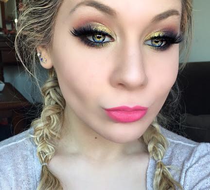 Glittery Sunset Eyes Makeup Tutorial