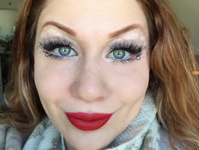 Holiday Series: Glittery Snowy Man Cut Crease Makeup Tutorial