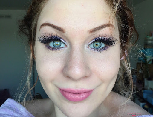 Pastel Lavender & Pink Glittery Cut Crease Makeup Tutorial