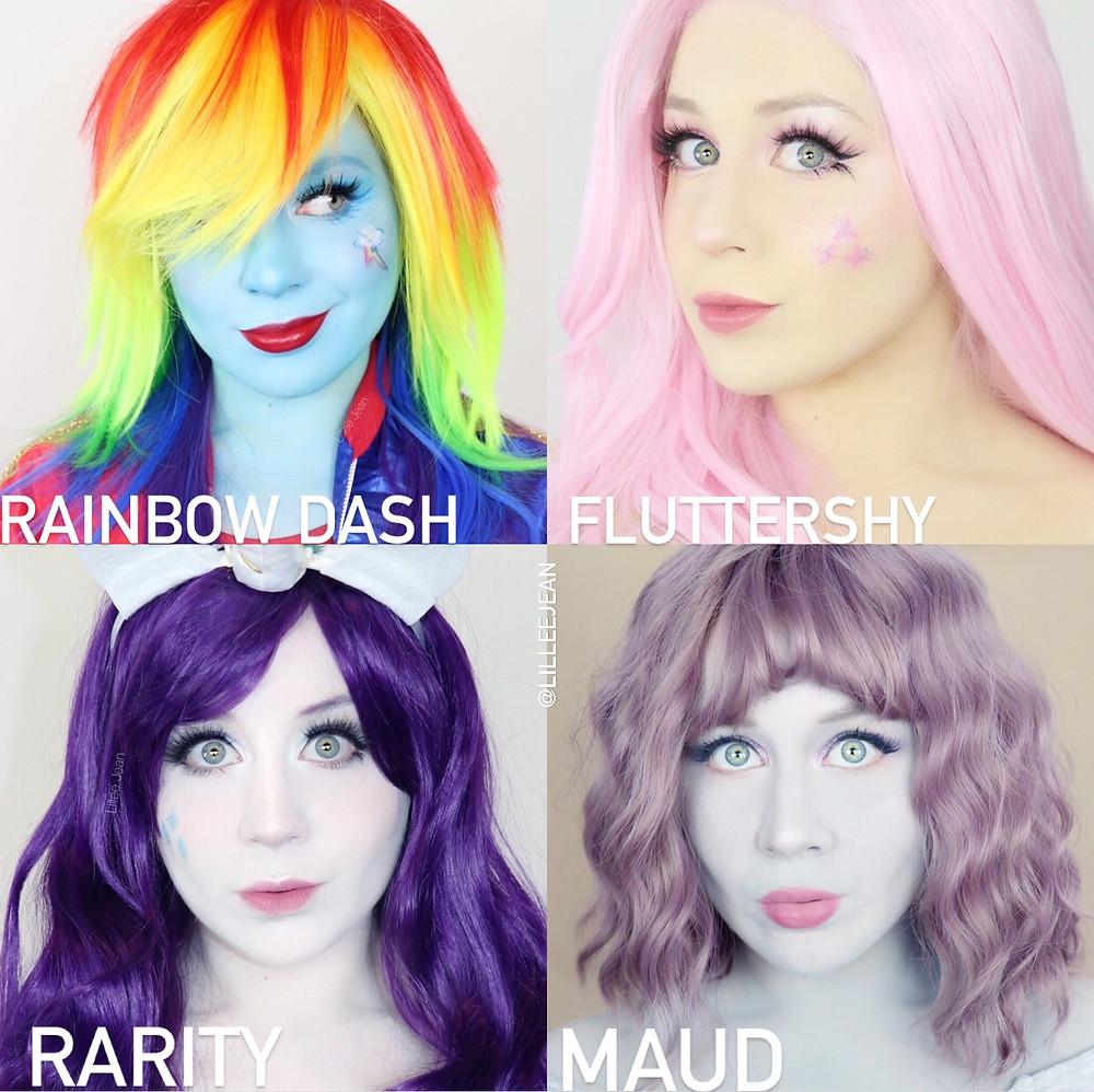 My Little Pony Cosplay Makeup Tutorial Halloween 2020 | Equestria Girls | Lillee Jean