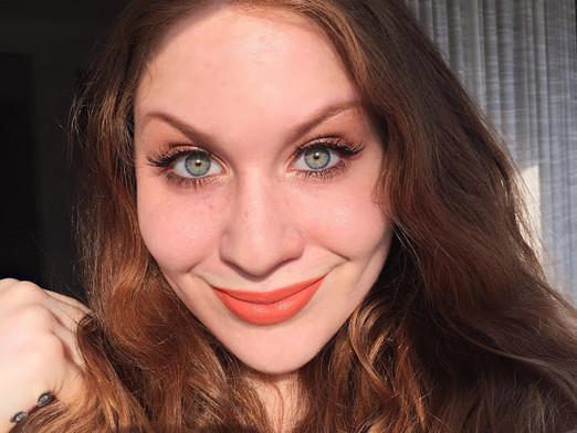 Springy Orange Creamsicle Soft Glam Makeup Look