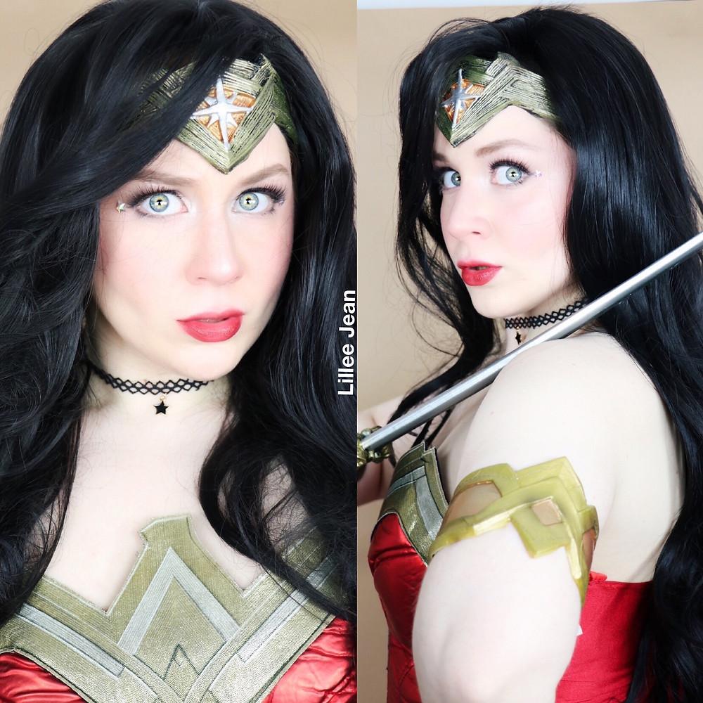 Wonder Woman EGIRL Star Rhinestone Navy Eyeliner | DC Comics Makeup Tutorial 2020 | Lillee Jean