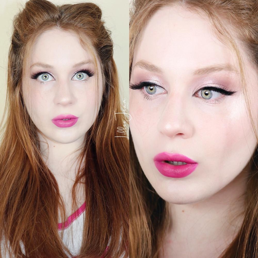 Magenta Lipstick Soft Glam Spring Makeup Tutorial 2021   Lillee Jean
