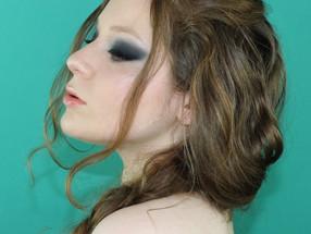Dark Smokey Blue and Green Drugstore Makeup Tutorial
