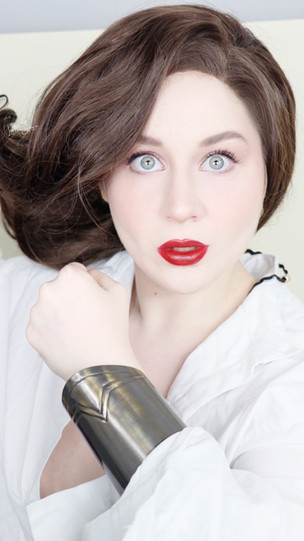 Wonder Woman 1984 WHITE Goddess DRESS CRUELTY FREE Makeup Tutorial 2021   Lillee Jean