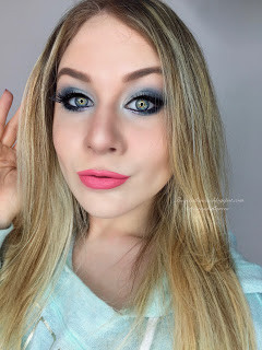 Frosted Shimmery Winter Blue Cancer Zodiac Makeup Tutorial 2016 | Lillee Jean