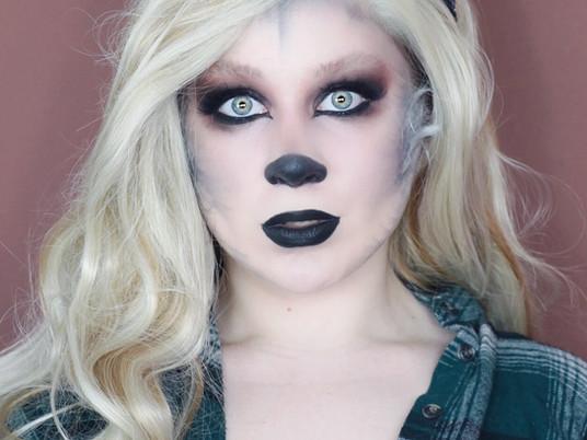 GLAM SILVER Werewolf NARS EXTREME EFFECTS HALLOWEEN Makeup Tutorial 2020 | Lillee Jean