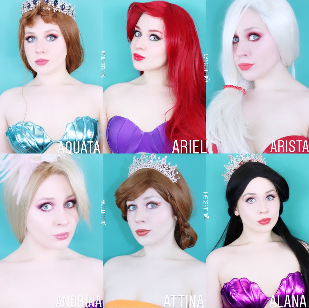All Ariels Sisters Cosplay By Lillee Jean