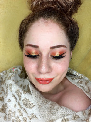 Wearable Halloween: Vibrant Candy Corn Inspired Glittery Halo Eye Makeup Tutorial 2016 | Lillee JEan