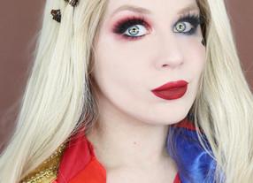 Harley Quinn Dramatic Smokey Eye Makeup Tutorial DC COMICS Cosplay 2020 | Lillee Jean