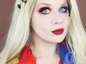 Harley Quinn Dramatic Smokey Eye Makeup Tutorial DC COMICS Cosplay 2020 | Lillee Jean