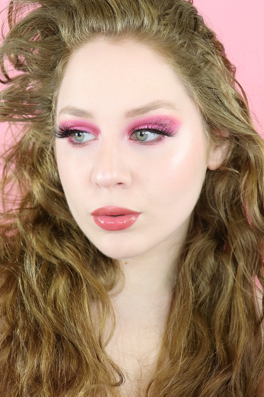 Too Faced Watermelon Slice Glittery Pink Makeup Tutorial 2020 | Lillee Jean