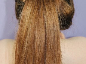 EASY WRAP PONYTAIL Volume WIRE Hairstyle Tutorial 2021   Lillee Jean