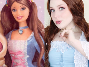 ASMR Whispers Erika Princess & the Pauper BARBIE Cosplay 2021 | Lillee Jean