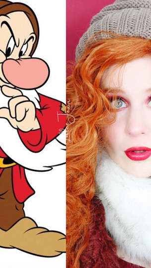 Grumpy Snow White and the Seven Dwarfs COSPLAY HOLIDAY GLAM Makeup Tutorial 2020   Lillee Jean