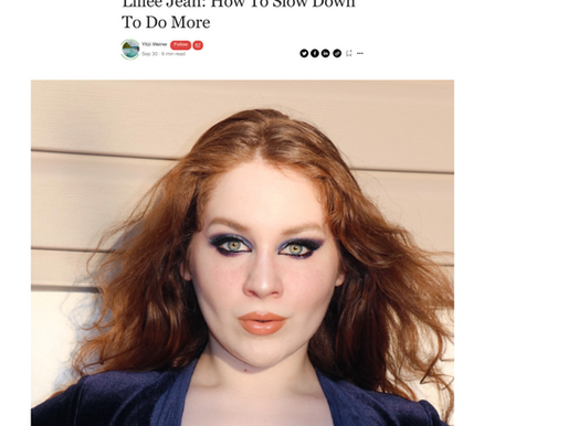 """Lillee Jean """"HOW TO SLOW DOWN"""" In Authority Magazine Interview 2021"""