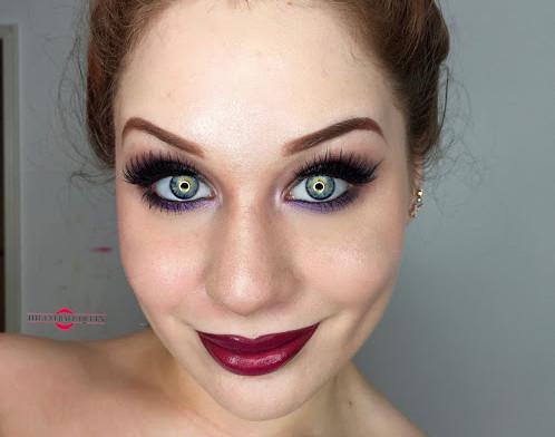 Sultry Dark Silver and Gradient Purple Smokey Eye Makeup Tutorial