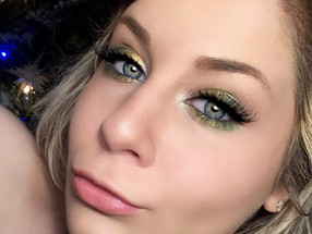 Shimmery Mistletoe Holiday Makeup Tutorial