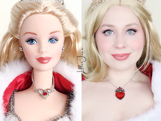 Barbie 2001 Holiday Doll Glamour COSPLAY Makeup Tutorial 2020 | Lillee Jean