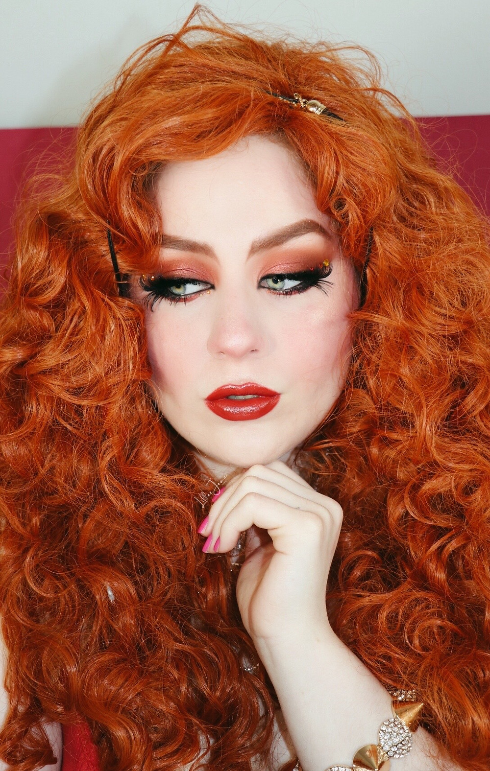 Disney ANIMAL Muppets Orange Smokey Eye RHINESTONE Catrice Makeup Tutorial 2021 | Lillee Jean