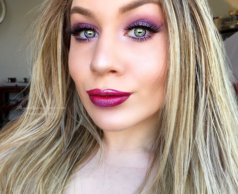 Princess Adora Intense Purple Glittery Smokey Eye Makeup Tutorial 2016   Lillee Jean