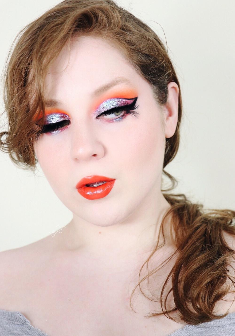 Makeup Revolution Birds of PARADISE Orange Blue Makeup Tutorial 2021 | Lillee Jean