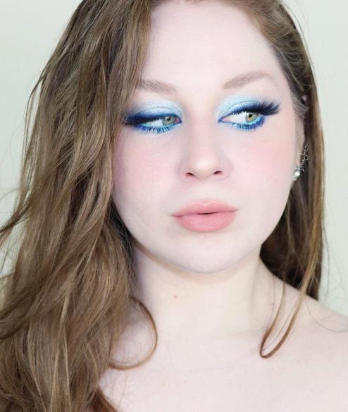 Lillee Jean Russian Blue Makeup Look