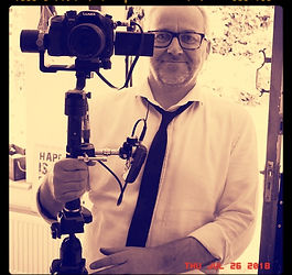Haydn Rushworth, Filmmaker, Director & Screenwriter on the set of a short film project with the Cymruwood Club