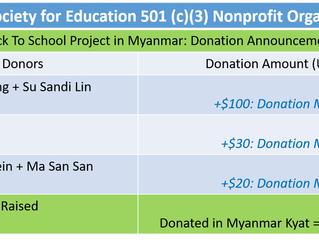 Back To School Project in Myanmar