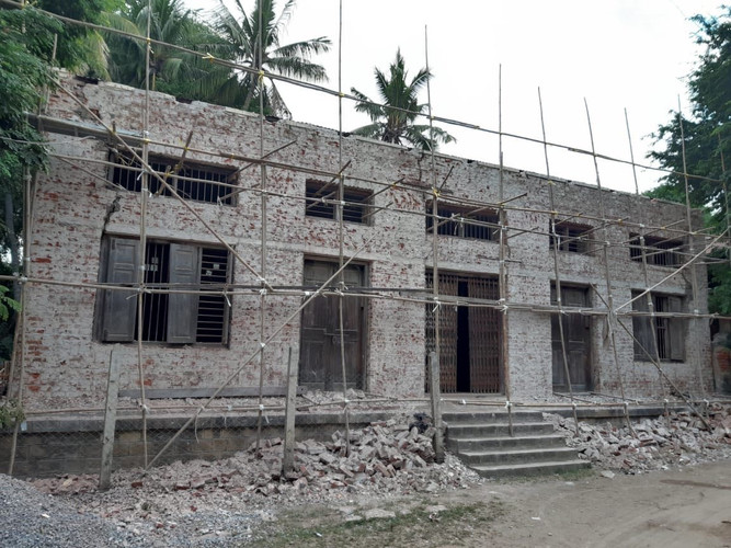 Building under resconstruction for YSE Vocational School