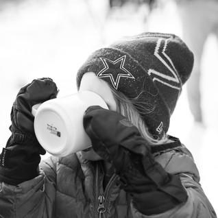 A kid drinking