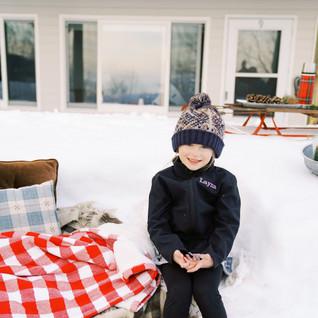 A kid posing