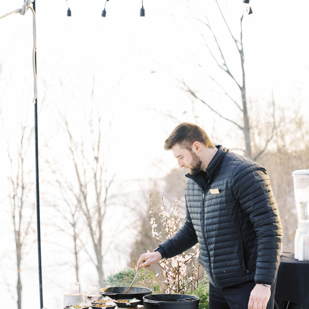 A man grilling