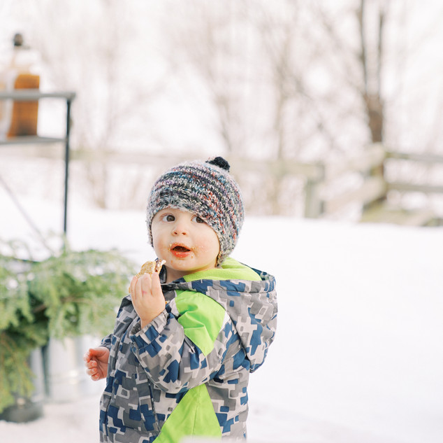 A baby in snow