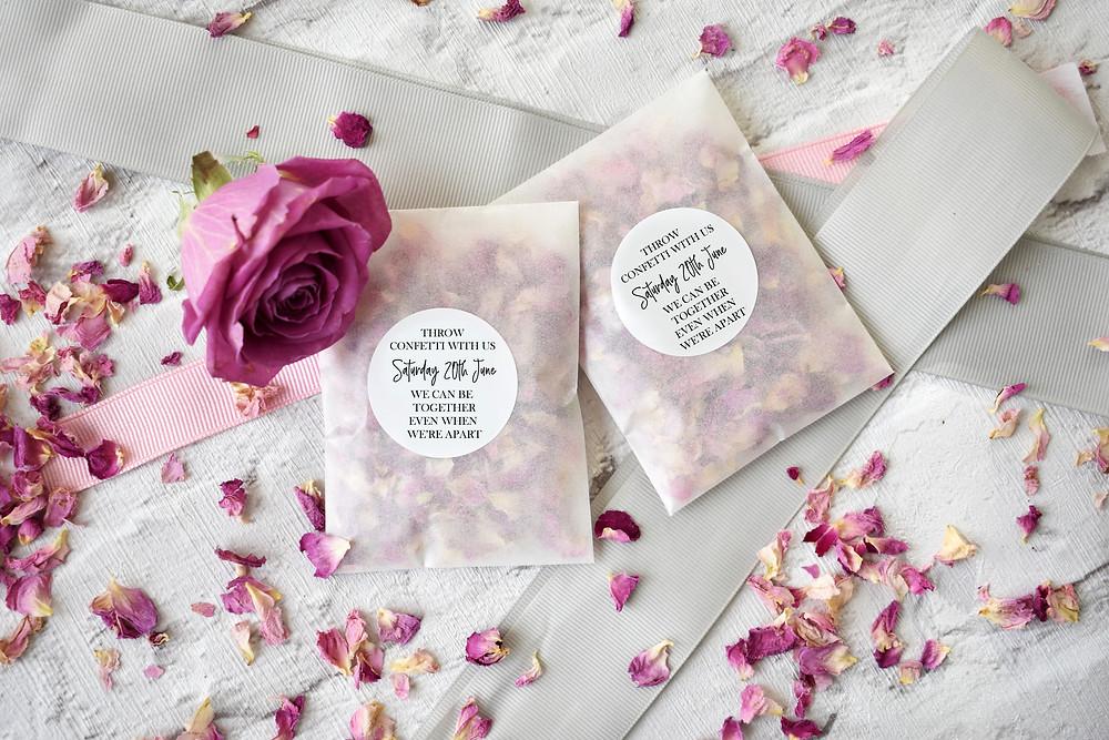 Confetti Packets | Plugged in Wedding | Virtual Wedding