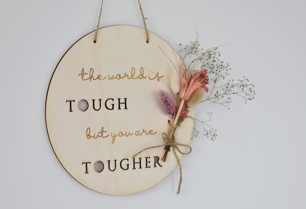 positive quote | interior decoration | Wooden wall decoration