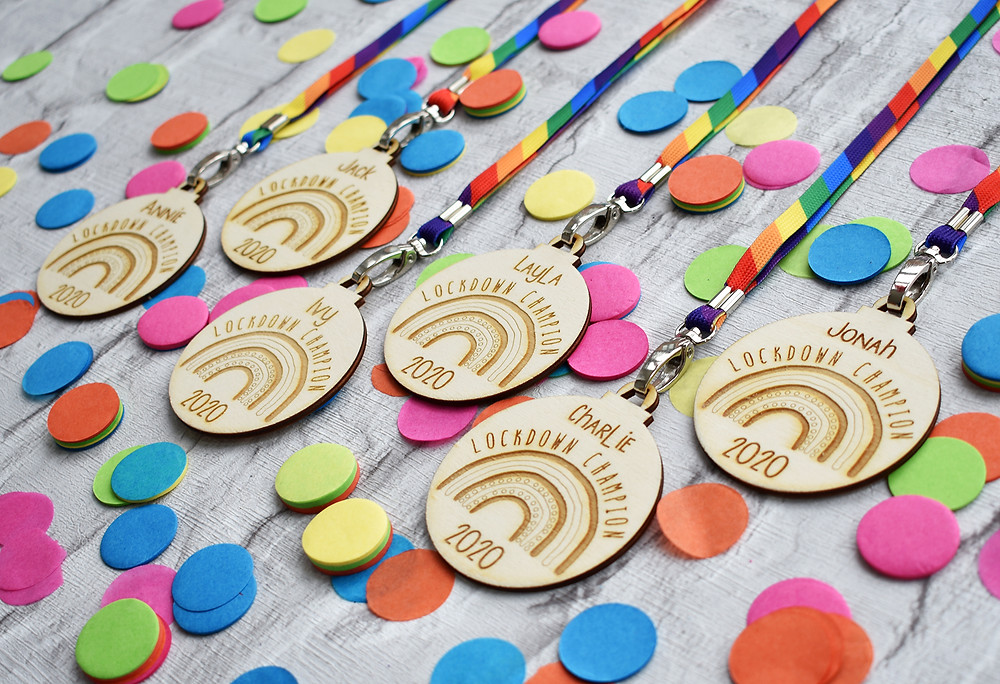 wooden medal | corona gift | lockdown gifts