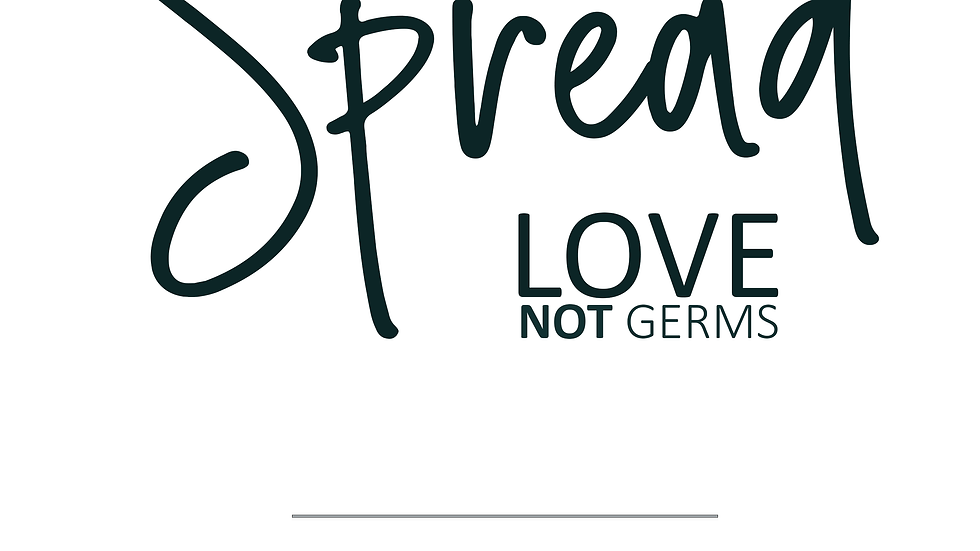 Spread Love not Germs   Wash your hands sign   Wedding Printables